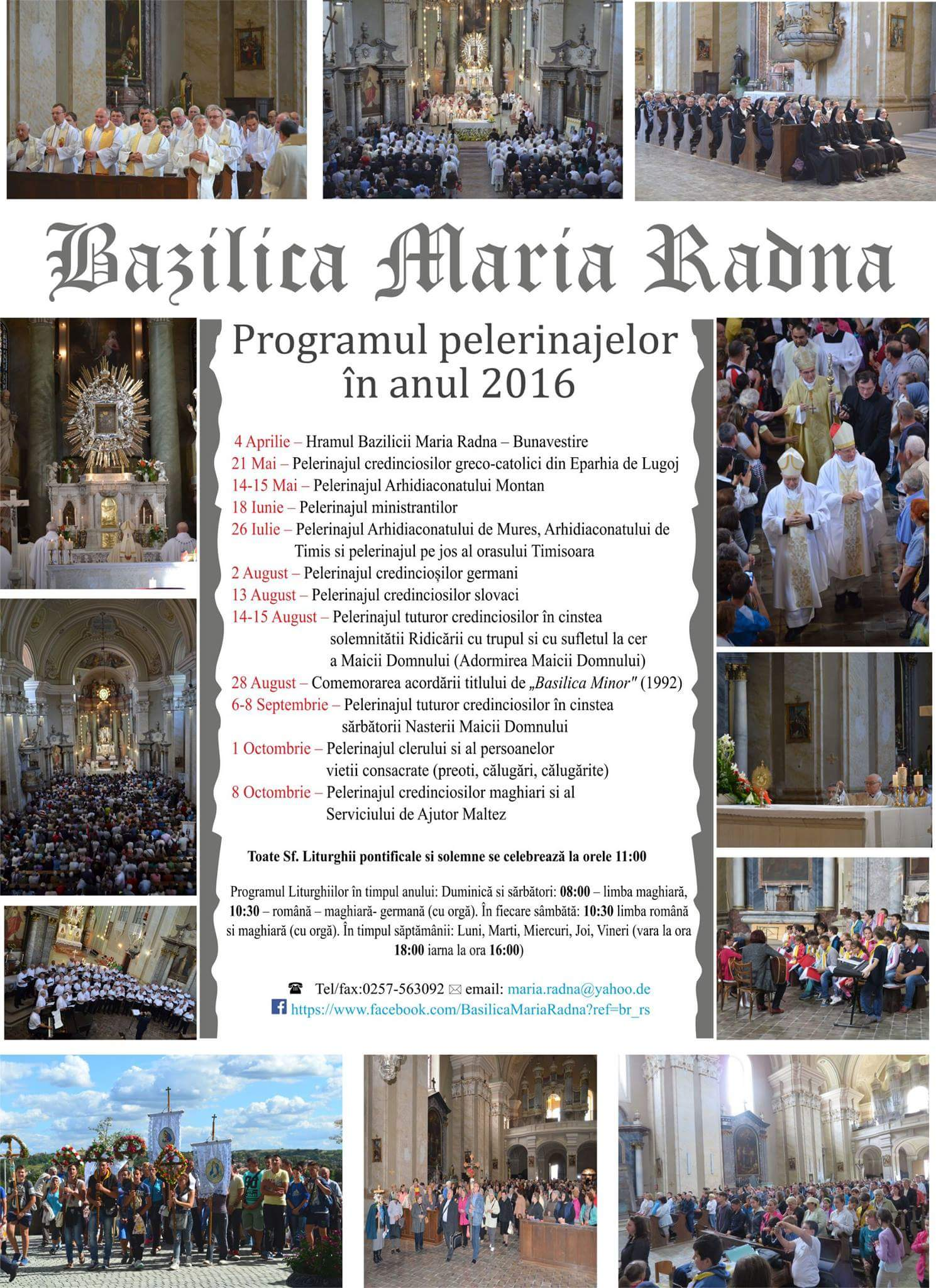 PROGRAM AN 2016 BASILICA MARIA RADNA