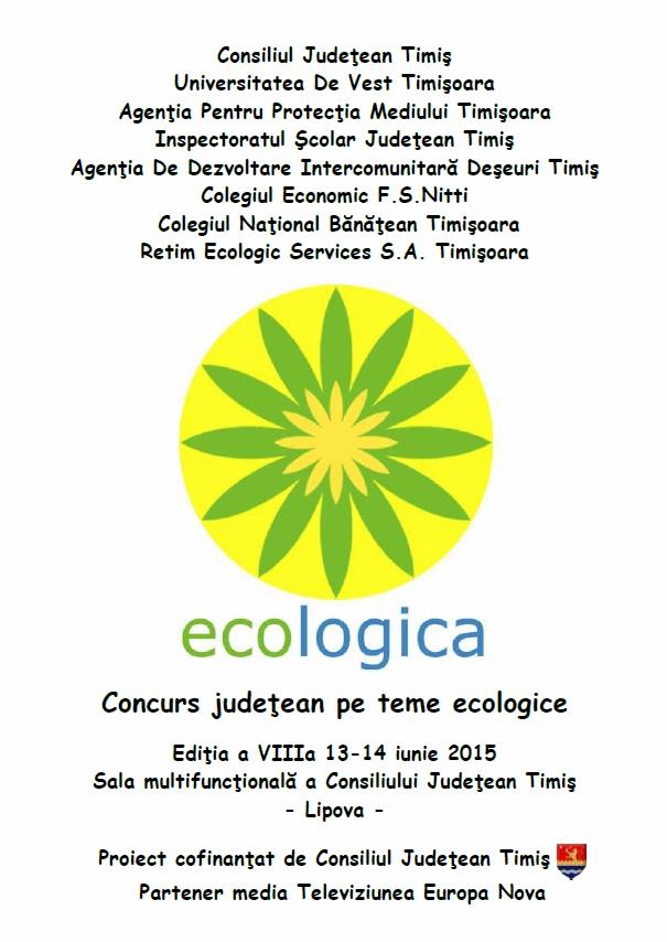 CONCURS ECOLOGICA - EDITIA A-VIII-a 2015