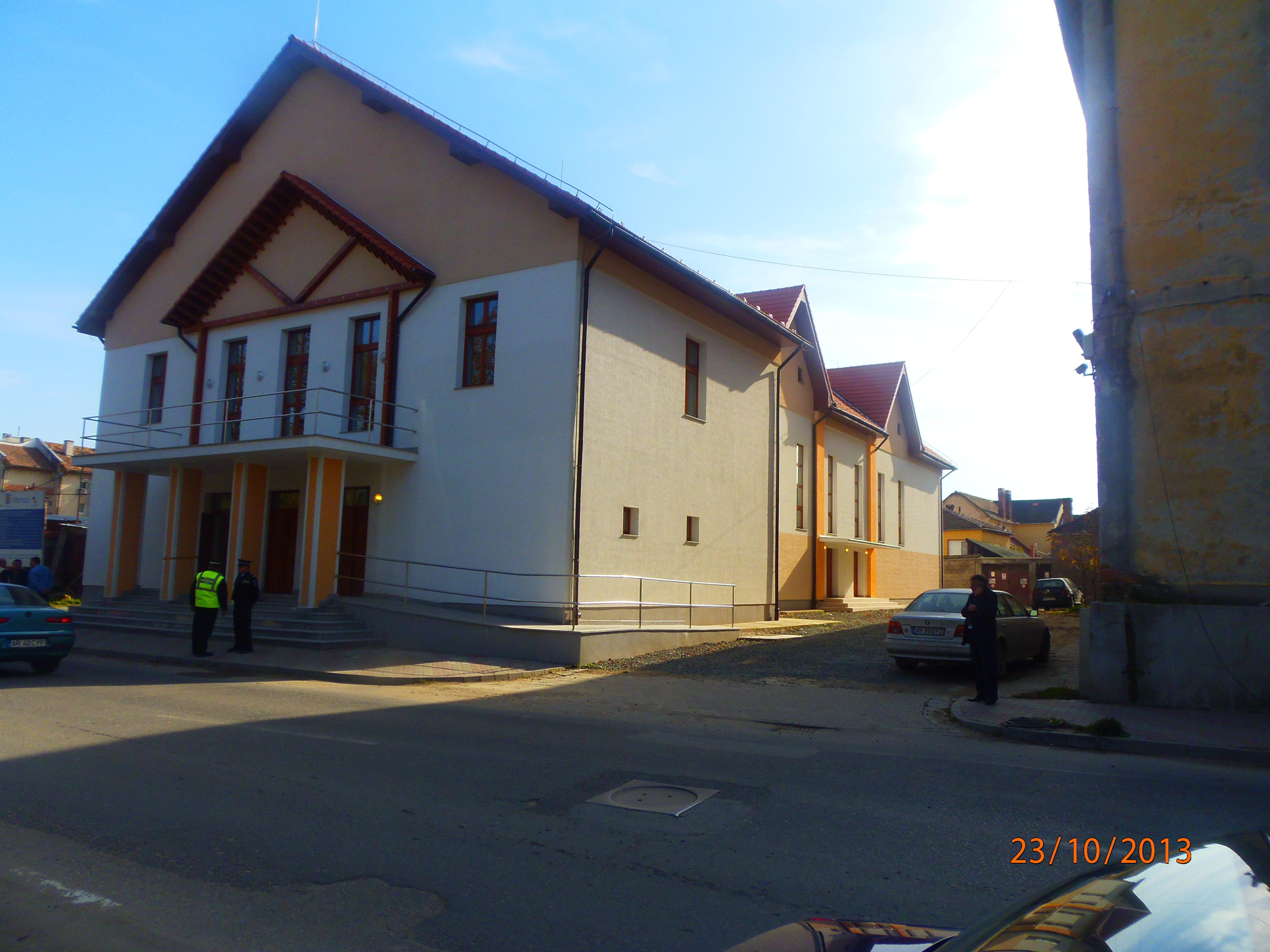 Exteriorul Centrului Recreativ Orăşenesc Lipova