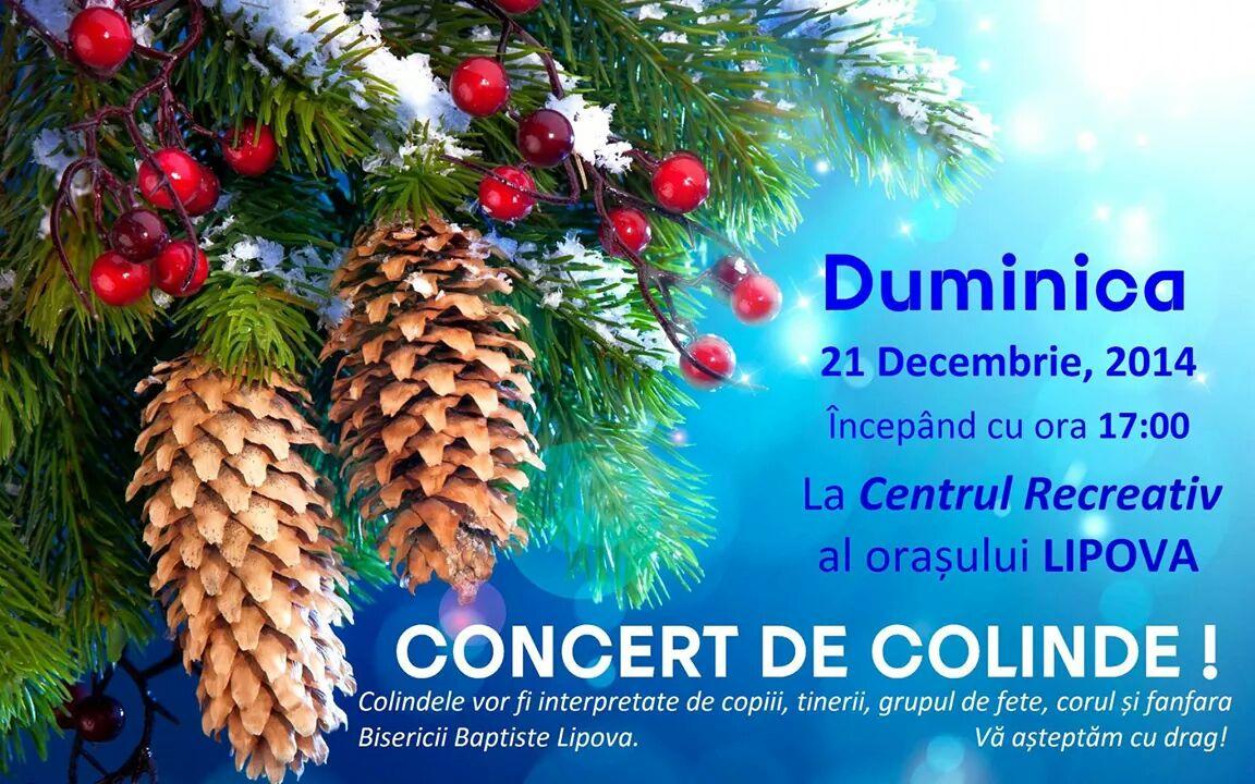 CONCERT COLINDE  CENTRU RECREATIV ORASENESC DECEMBRIE 2014