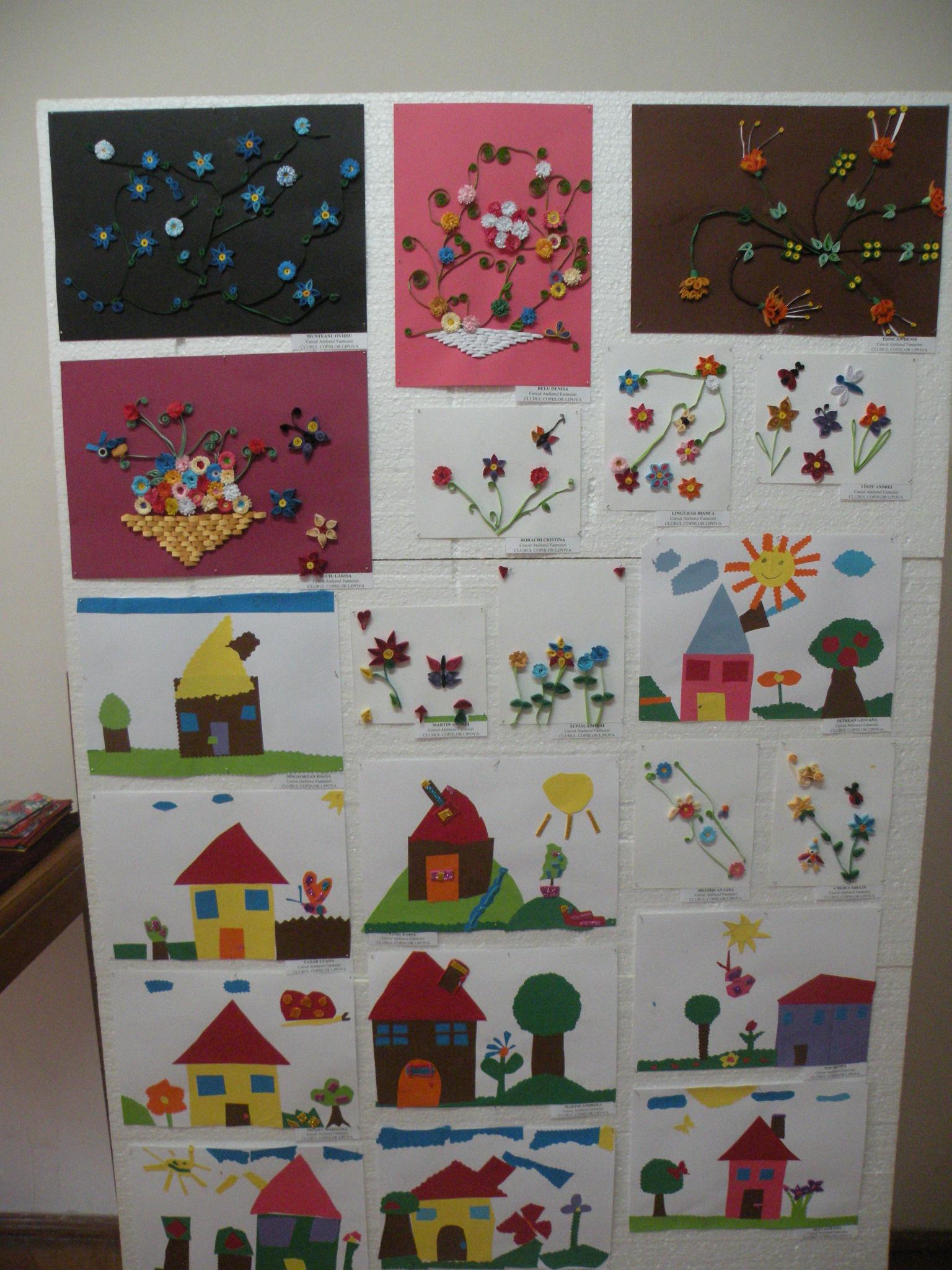 Creatiile copiilor expuse la muzeu au fost foarte colorate si originale