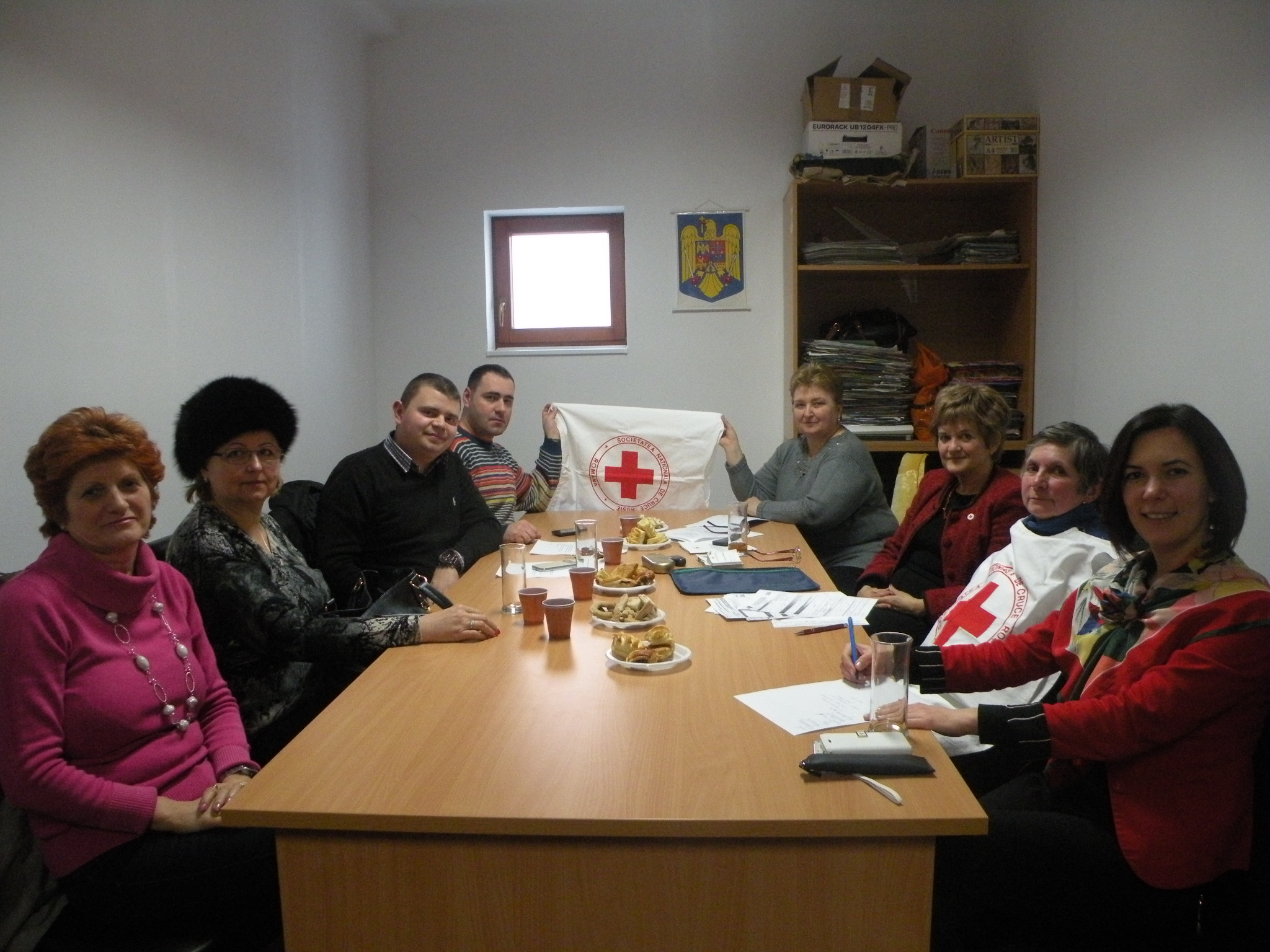 Membrii Subfilialei de Crucea Rosie Lipova