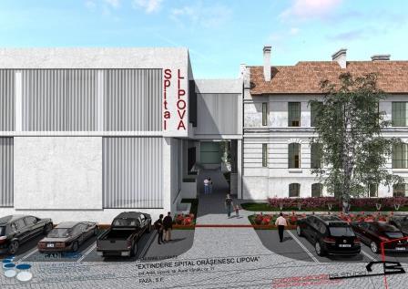 Constructia noua va fi legata de cladirea veche a spitalului actual