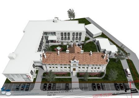 Imaginea noului spital vazuta de sus
