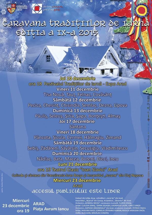 Caravana Traditiilor de Iarna ajunge în acest an la Lipova