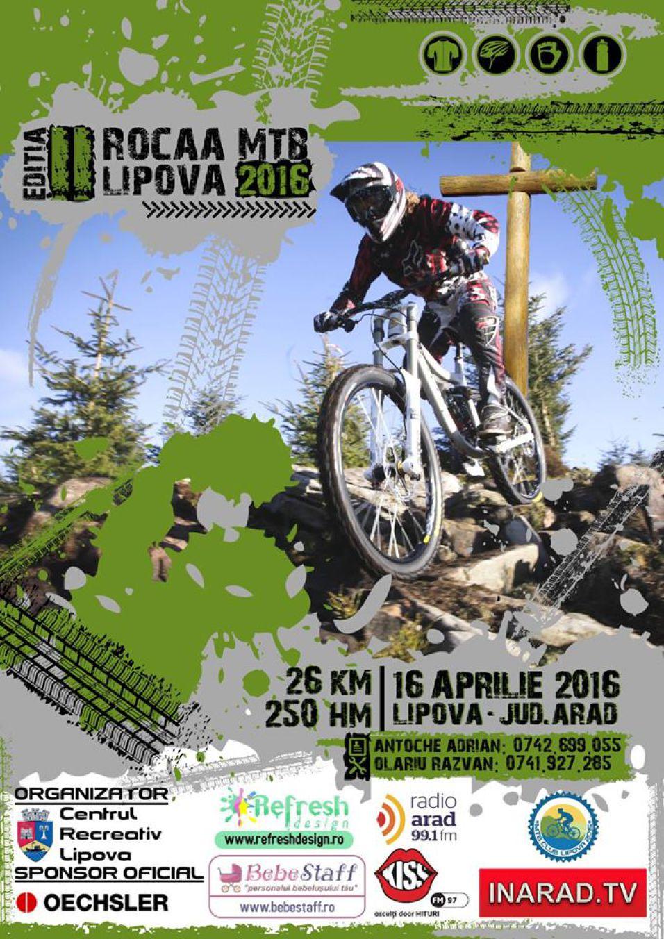 Concurs de ciclism ROCAA MTB Lipova 2016 – editia a doua