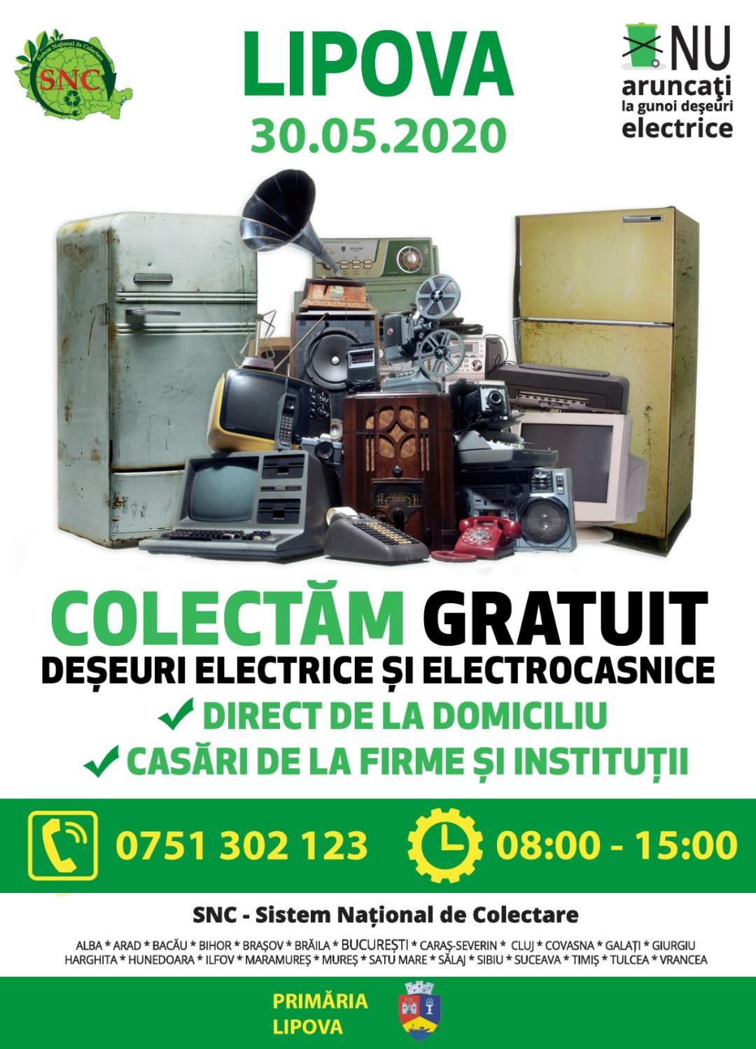 Acţiune de colectare a deşeurilor electrice şi electrocasnice – Ediția de primăvară 2020