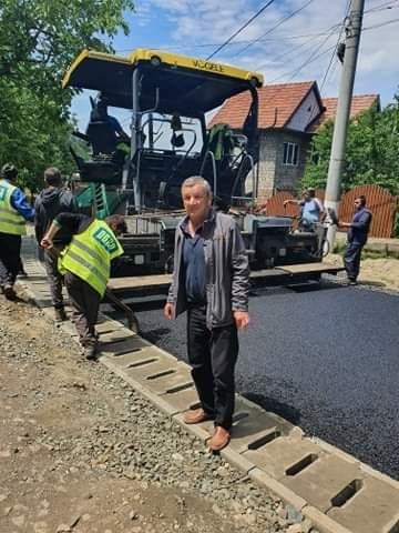 Reabilitarea și asfaltarea străzilor continuă și în această săptămână la Lipova, pe stăzile HORIA și MIRON  COSTIN