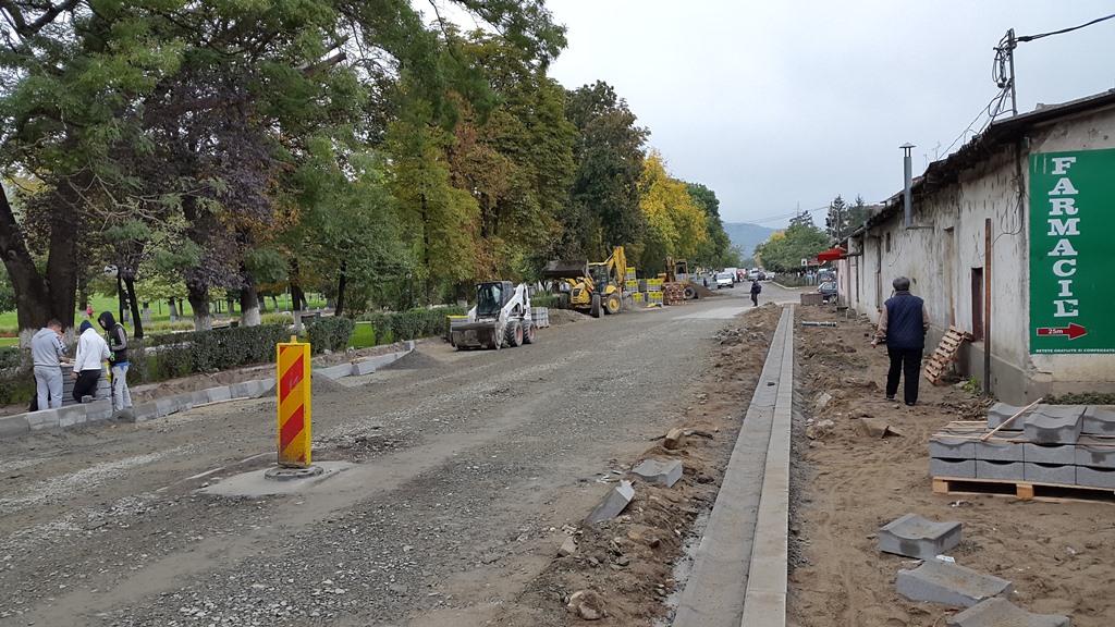 Lucrarile pe strada Bucgariu sunt in plin proces de   desfasurare