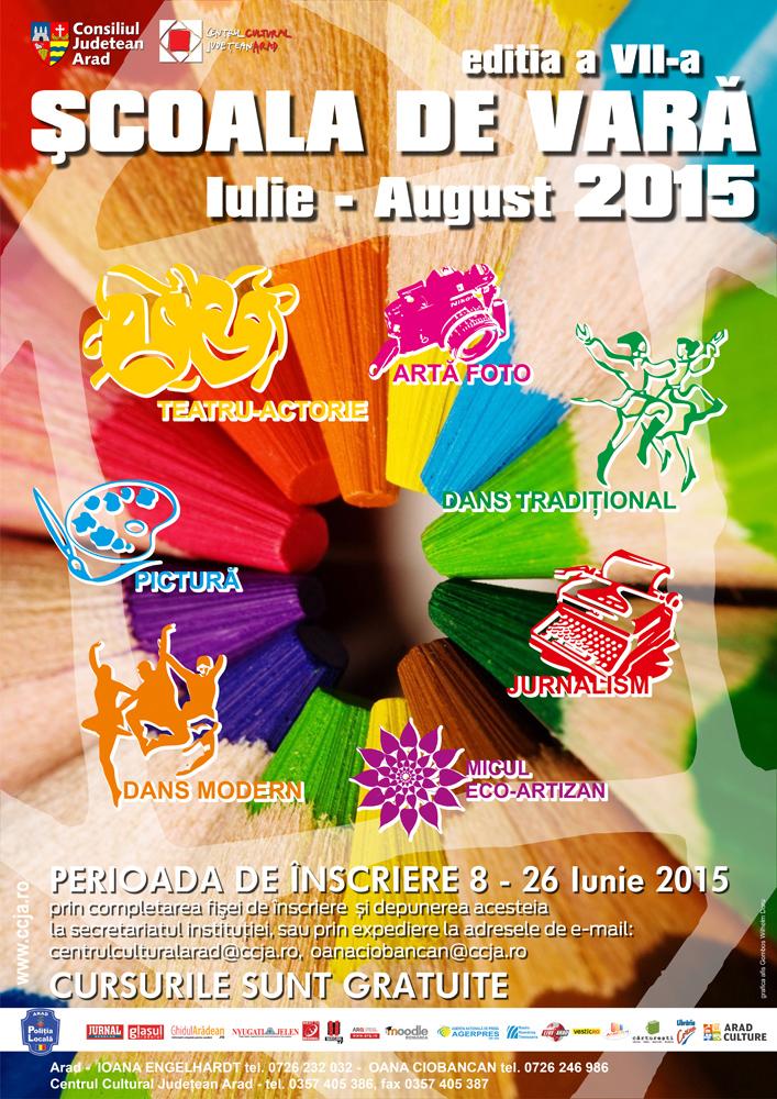 CURSURI (GRATUITE) ŞCOALA DE VARĂ - IULIE - AUGUST 2015