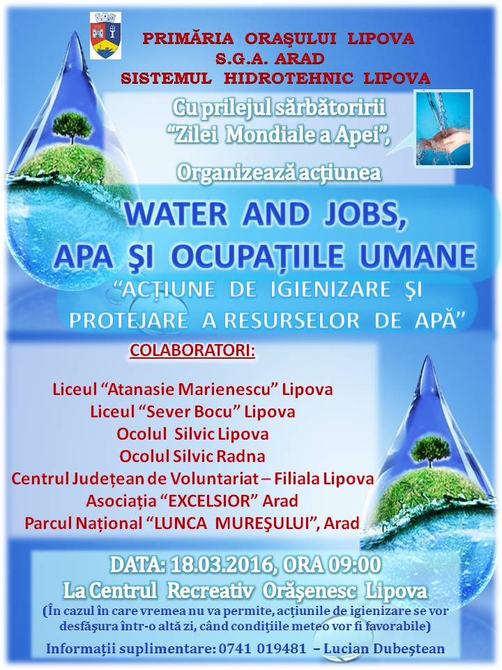 Water and jobs, apa si ocupatiile umane