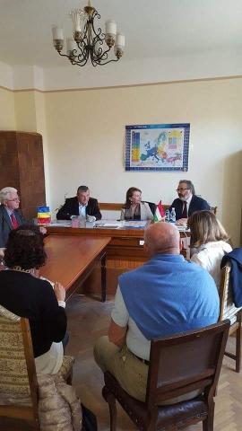 Reprezentanţii oraşului Castelvetro di Modena, din Italia, în vizită la Lipova, pentru reluarea relaţiilor de înfrăţire şi prietenie dintre cele două oraşe