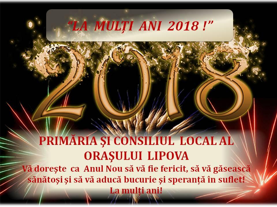 """""""La mulţi ani 2018!"""",  a fost spus sub un minunat foc de artificii în Oraşul Lipova"""