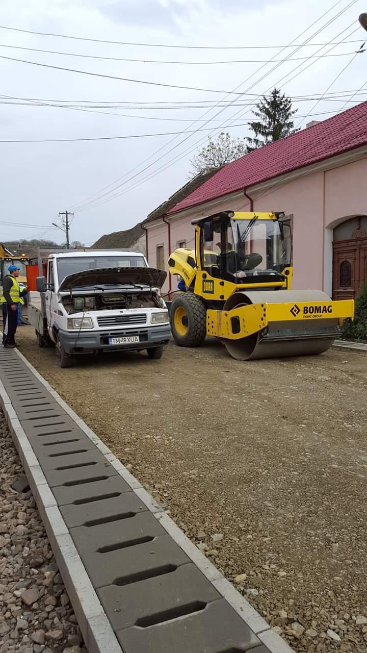 Reabilitarea a 8 străzi din orașul Lipova este în plină desfășurare