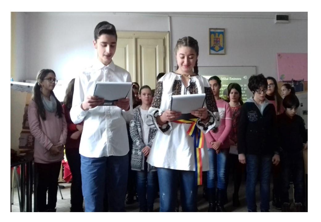 """,,DOR DE EMINESCU""""  la Liceul ,,Atanasie Marienescu"""" Lipova"""